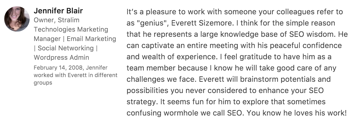 Recommendation for Everett